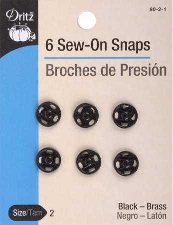 Snap Sew-On Size 2 Black