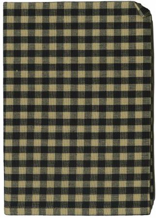 Tea Towel Small Check Black/Teadye