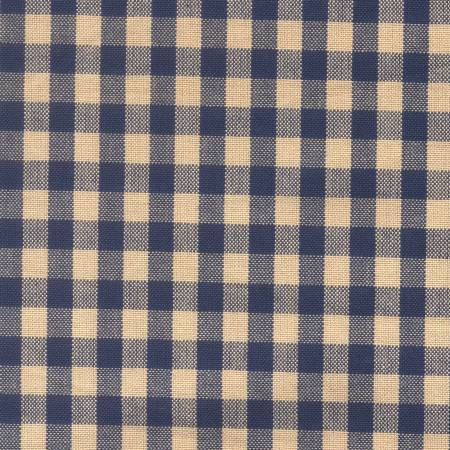 Tea Towel Small Check Navy/Tea dye