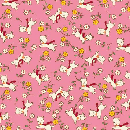 Pink Dog 1930's Reproduction Print
