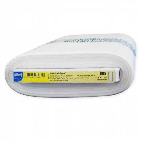808 Craft-Fuse 1-Sided Fusible Stabilizer, 20in wide, White (sold by the yard)