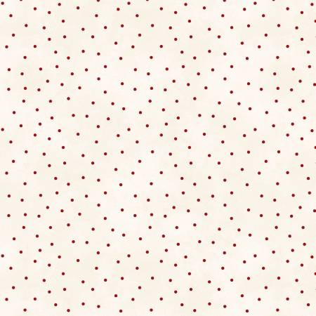 Natural/Red Scattered Dots