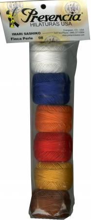 Pearl Cotton Size 8 Thread - Imari Sashiko Sampler