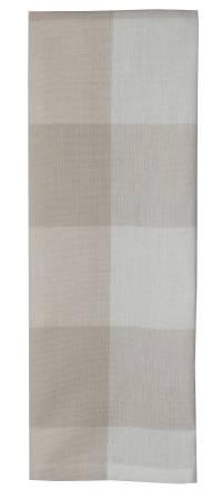 Tea Towel 3in Check Natural/ Cream