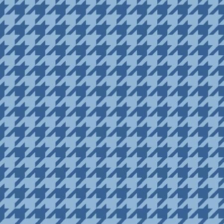 FQ Blue Tonal Houndstooth