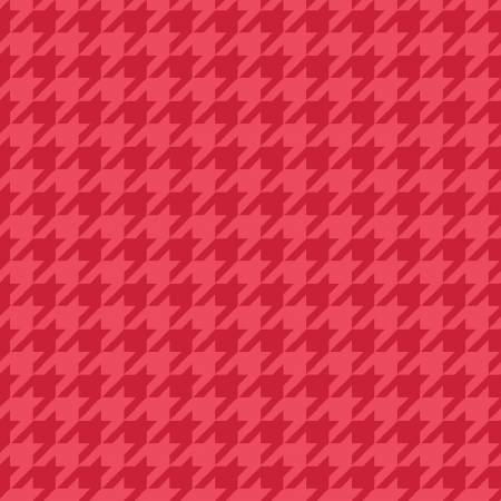 Kimberbell Red Tonal Houndstooth