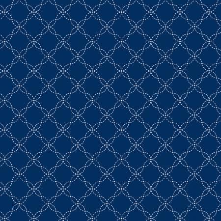 Kimberbell Lattice Fabric: Navy