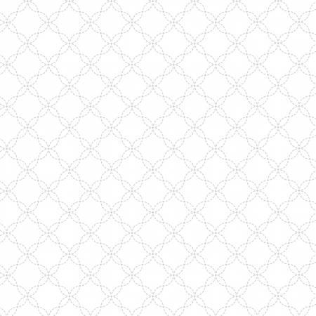 KimberBell Basic - Lattice - White on White
