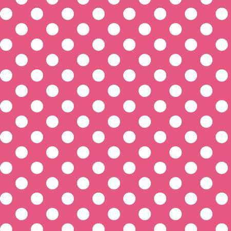 Kimberbell Basics Pink Polka Dot Fabric