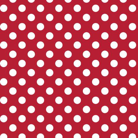 Kimberbell Large Dots Fabric: Red