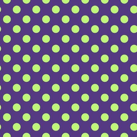 Hometown Halloween - Purple/Green - Dots - Maywood Studio - Kimberbell - 8216M-VG