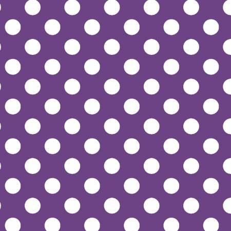 Broomhilda's Bakery - Dots Purple/White