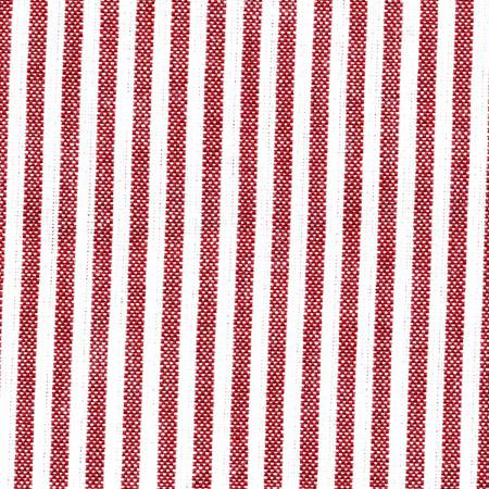 Tea Towel Chambray Stripe Red