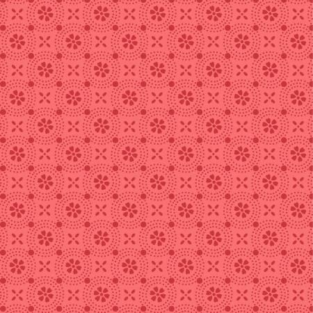 Kimberbell Basics Peachy Pink Dotted Circles Fabric