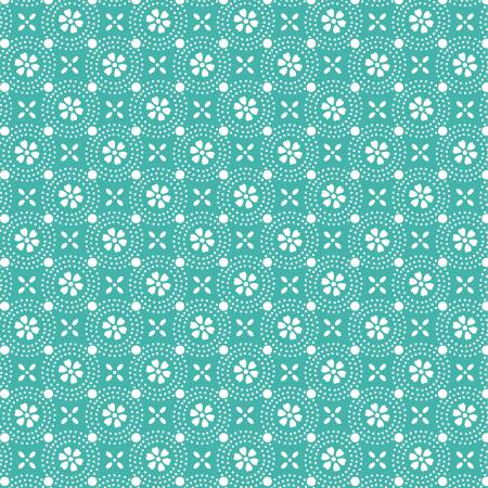 Kimberbell Dotted Circles Fabric: Teal