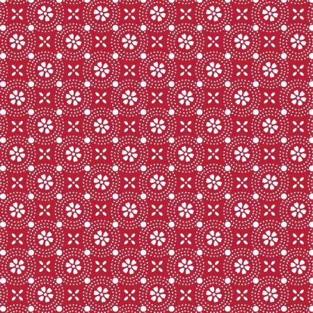 KimberBell Basics: Dotted Circles - Red