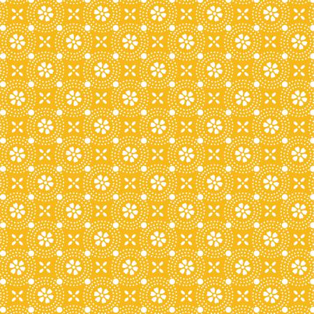 Kimberbell Yellow Dotted Circles