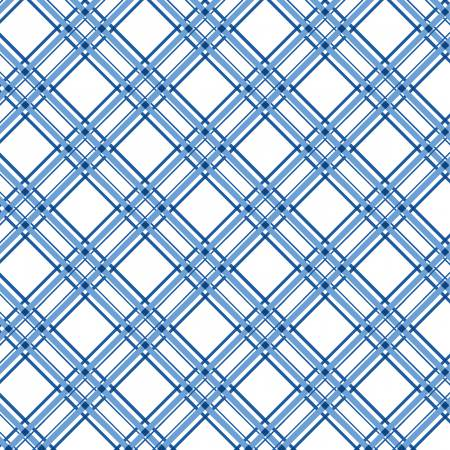 Kimberbell Diagonal Plaid Fabric: Blue