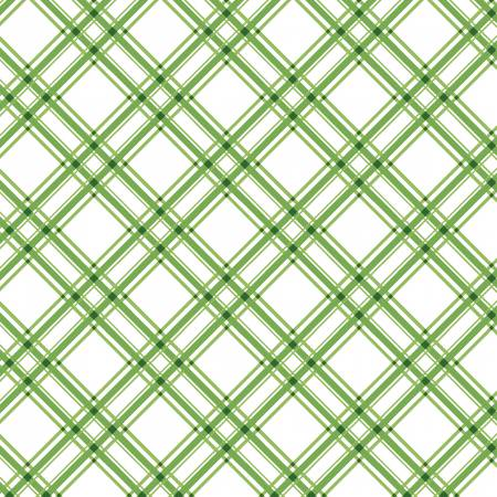 Green Diagonal Plaid Kimberbell