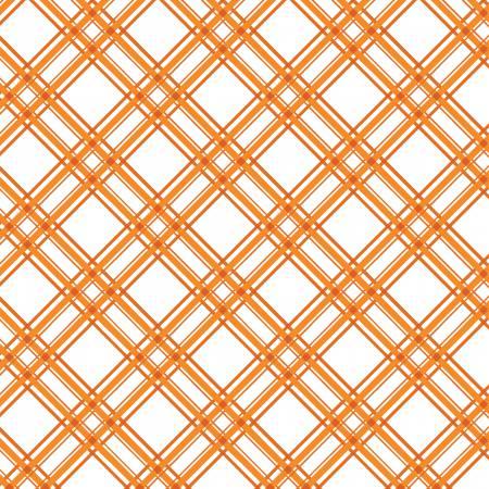 Kimberbell Basics-Orange Diagonal Plaid