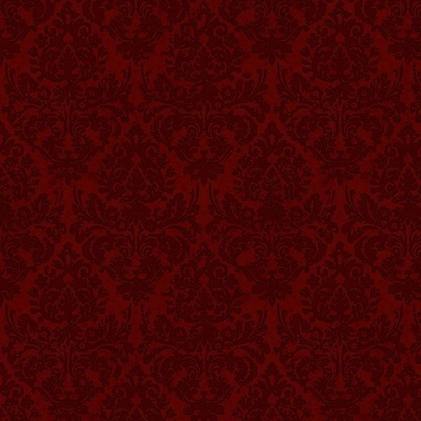 Dark Red Damask
