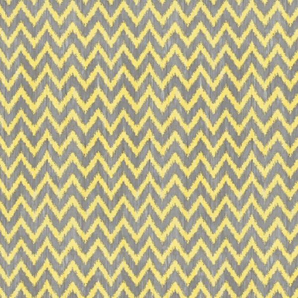 Chevron Fat Quarter - Gray & Yellow by Wilmington Fabrics
