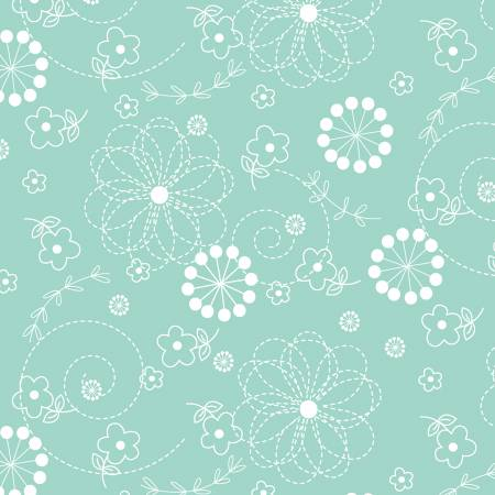 KIMBERBELL BASICS  - Teal Doodles - Maywood Studio  - 714329038131 - 8246M-Q