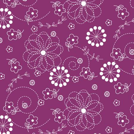 Violet Red Doodles by Maywood Studios