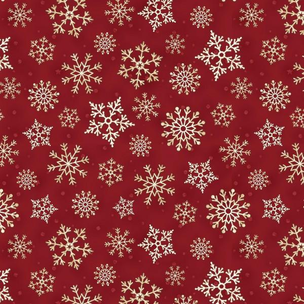 Red Packed Snowflakes