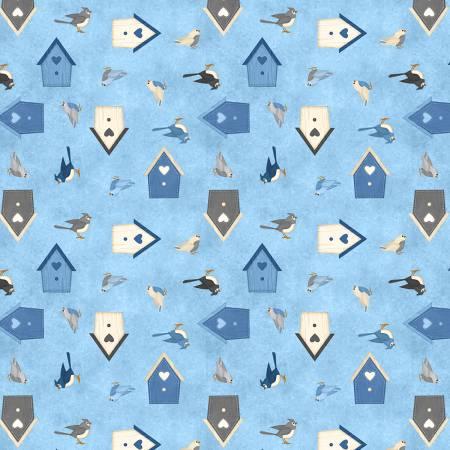 Medium Blue Birds & Birdhouses-82546-449