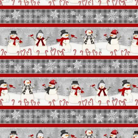 Snowy Wishes Border Stripe