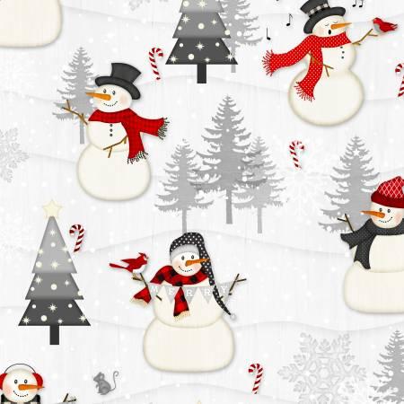 Snowy Wishes Light Grey Snowy Scenic 82569-930