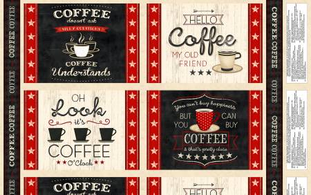 Multi Coffee Time Placemat Panel (20G)