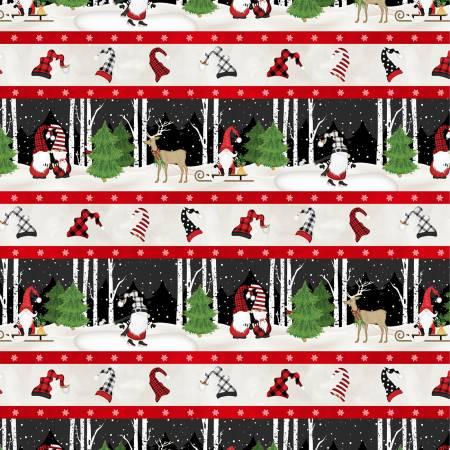 Gnome-antics Repeating Stripe