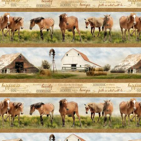 Wilmington - Greener Pastures- Border Print/Multi - 82630-274