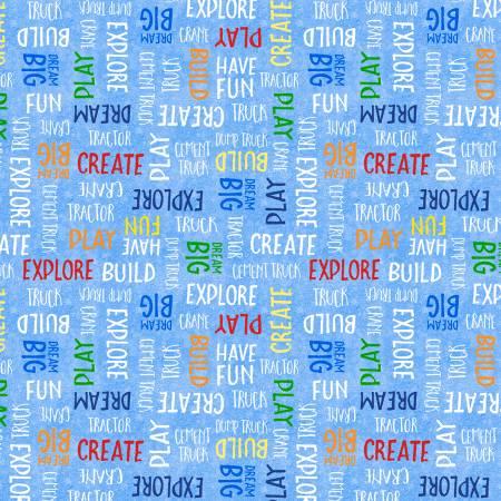 Building Dreams 82643-413 Blue Word Toss