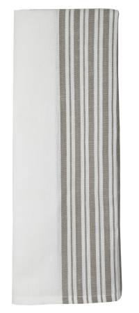 Cotton/Linen Stripe Taupe/White