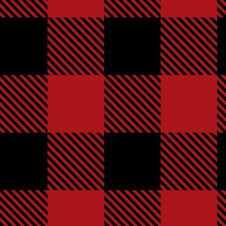 Black/Red Buffalo Plaid Fleece