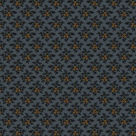 Circa Prairie Basics Blue Background with Gold Berries R17 8341 0510