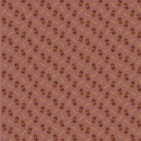 Circa Prairie Basics Pink Background with Pink and Tan Flowers R17 8342 0576