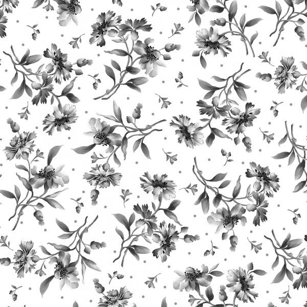 GRADIANCE-White/Grey Tossed Floral
