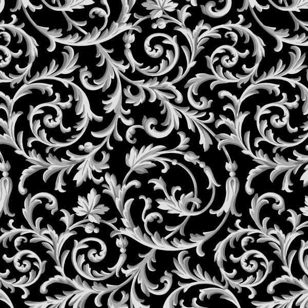 GRADIANCE-Black Elegant Scroll
