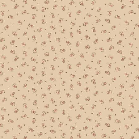 Circa Prairie Shirtings Tan with Tiny Flower Print R17 8347 0590