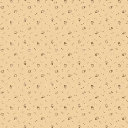 Circa Prairie Shirting Tan background with Brown Flowers R17 8348 0590