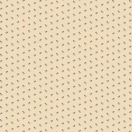 Circa Prairie Shirting Cream Background Dark Blue Stars R17 8349 0542