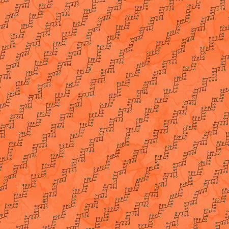 Orange Feather Stitch