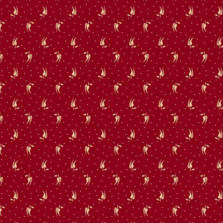 Burgundy Feather Reproduction Print