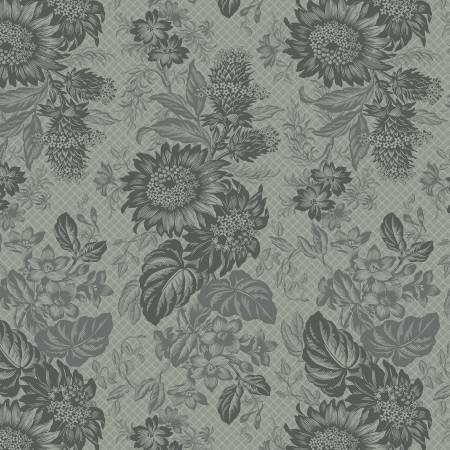Marcus 8385-0571 Grey Large Floral Reproduction Print