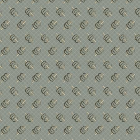 Marcus 8388-0571 Grey Spools Reproduction Print