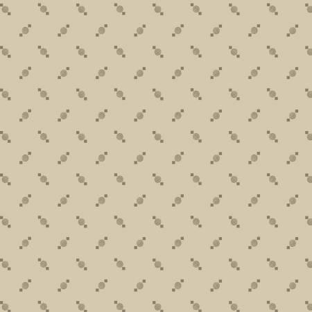 Marcus 8390-0588 Beige Dot & Diamond Reproduction Print